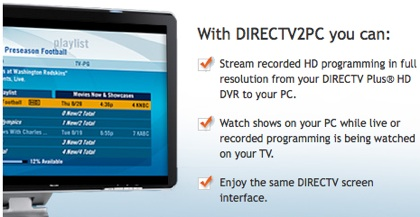 DirecTV Streams DVR Content To PC (LAN)