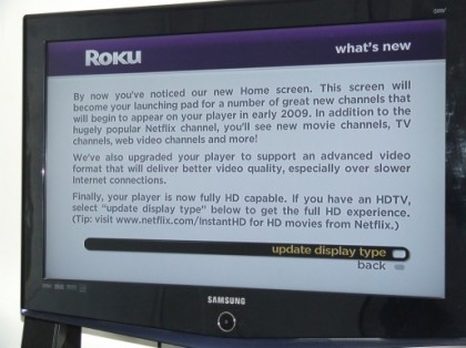 Roku Netflix Box Now Streaming HD (For Some)