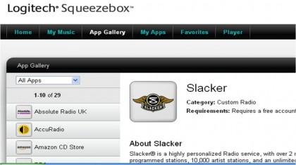 Logitech Squeezebox App Gallery