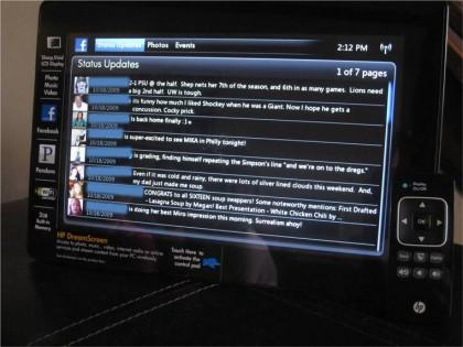 HP DreamScreen Facebook