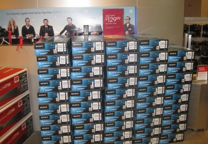 Sony Style store King of Prussia Mall Black Friday blu-ray players
