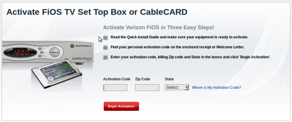 Verizon FiOS TV CableCARD Self Installs Are A Go