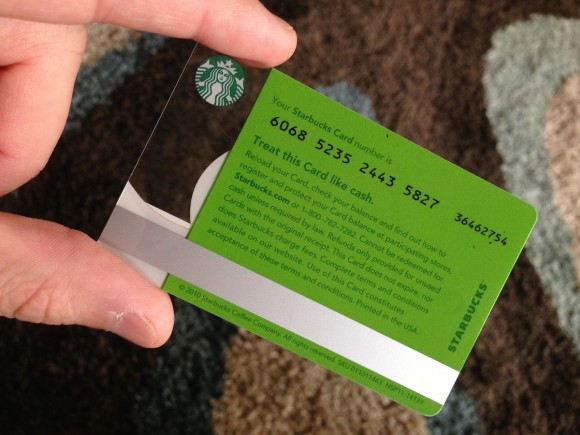 Add Gift Card To Starbucks App