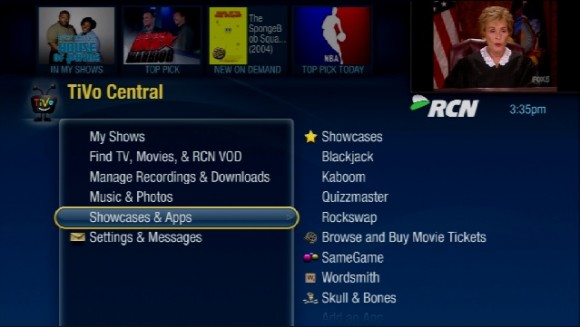 RCN TiVo DVRs Receive AOL On & New Games
