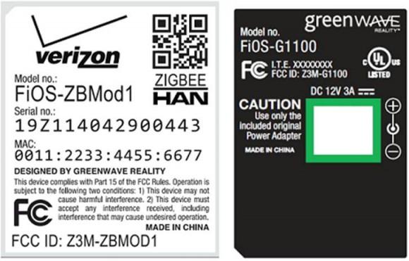 Verizon GreenWave FCC documentation