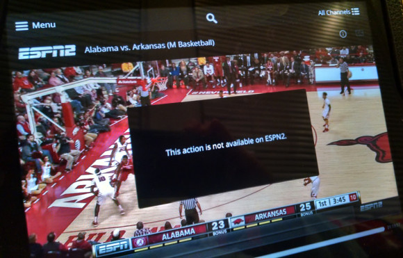 Sling TV from Dish with ESPN on iPad