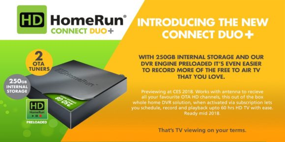 HDHomeRun Connect Duo+ is an OTA DVR