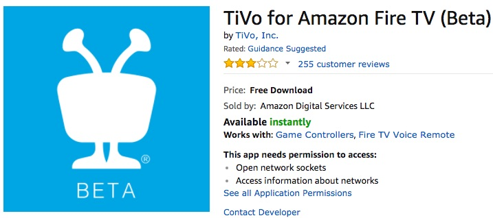TiVo retires Amazon Fire TV app, but