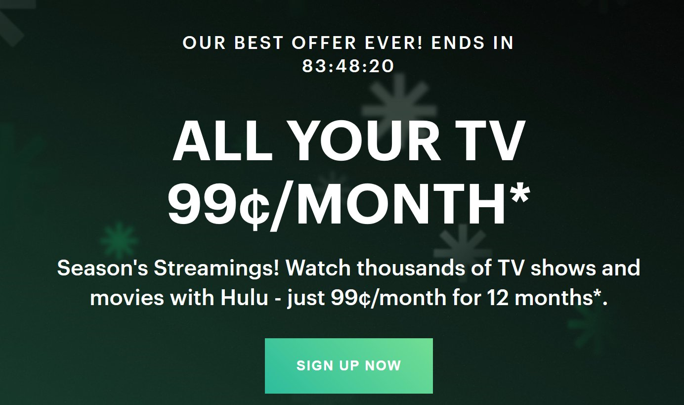 99 Cent Hulu Deal Still In Play