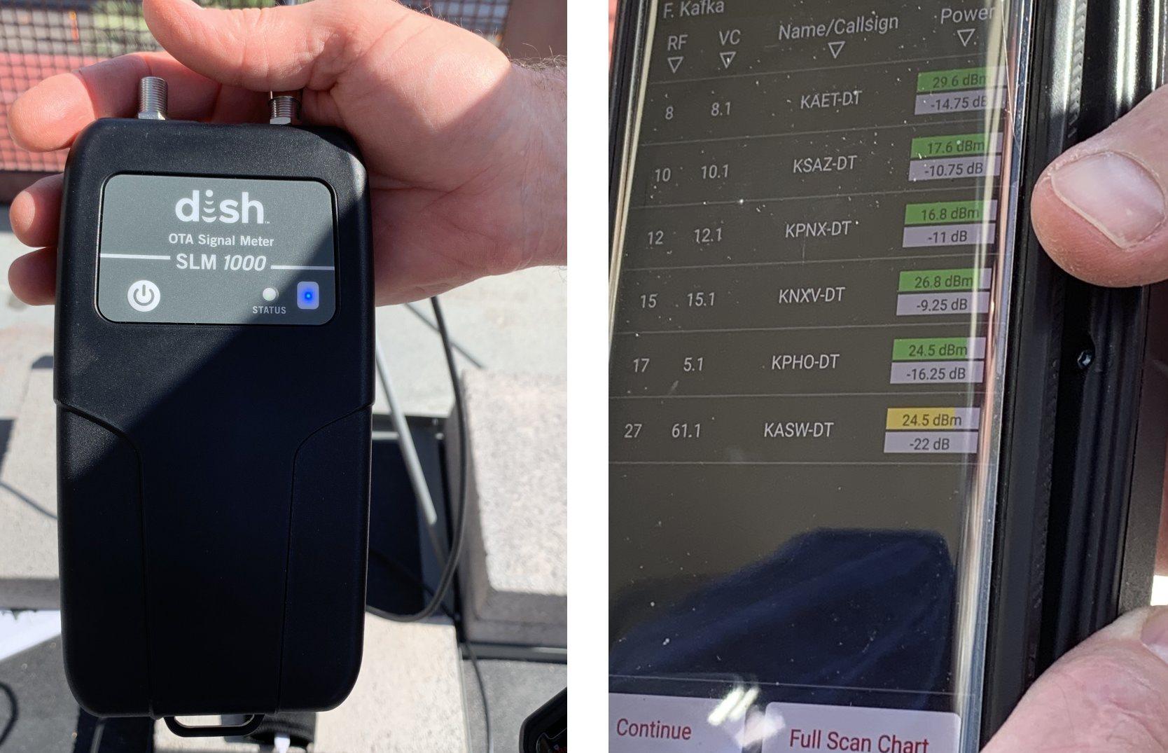 DISH OTA Signal Meter To Improve Antenna Reception